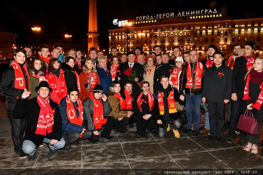 Рабочий визит Зюганова Г.А. в городе-герое Ленинграде